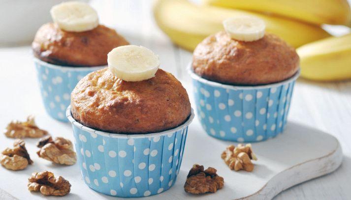 Muffin con banana e noci senza burro