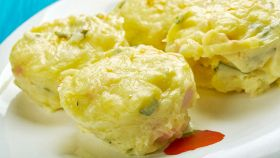 Sformatini di patate con zucchine e prosciutto