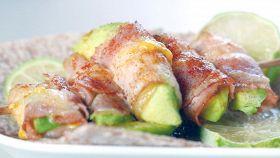 Spiedini di avocado e bacon