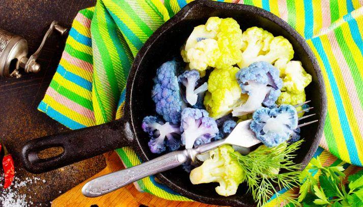 Cavolfiori colorati in padella