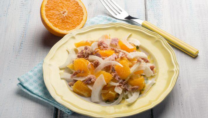Insalata tonno, finocchi e arancia
