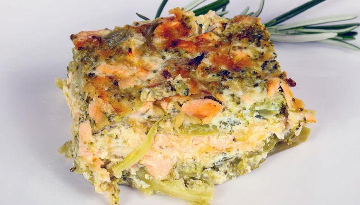 Sformato broccoli e salmone