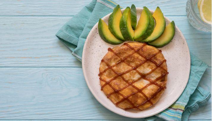 Frittata di patate a forma di ananas