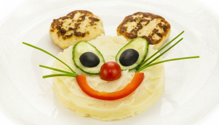 Purè di patate a forma di topo