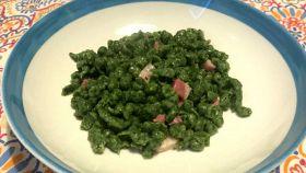 Spatzle di spinaci con speck