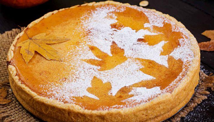 Torta autunnale con zucca e cannella