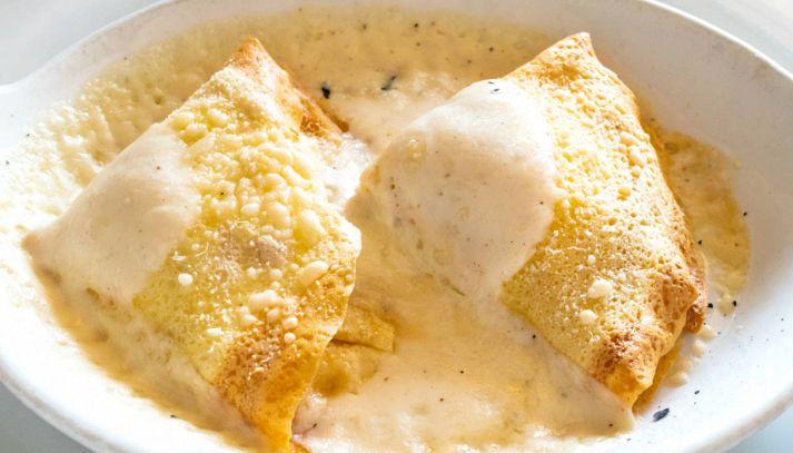 Crespelle con prosciutto e formaggio