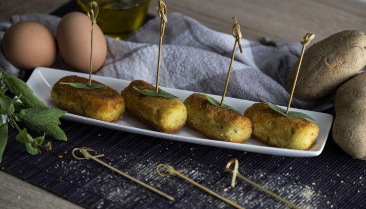 Rotolini di patate e salvia