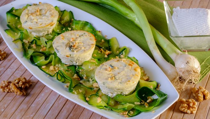 Ricotta al forno con zucchine