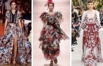 Moda donna, gli abiti a fiori: multicolor, esuberanti o romantici?