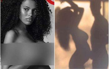 Tina Kunakey, la moglie di Vincent Cassel, mostra il pancione nudo
