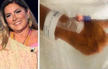Romina Power operata d'urgenza posta una foto dall'ospedale, fan in ansia
