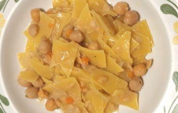 Un piatto per i primi freddi: pasta e ceci