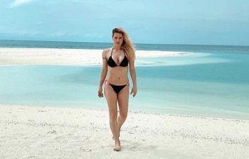 Michelle Hunziker alle Maldive e