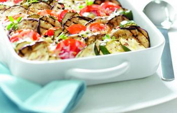 Ricette estive: gratin di pomodori e zucchine