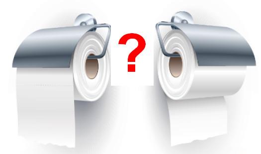 Qual è il verso giusto per mettere la carta igienica sul portarotolo?