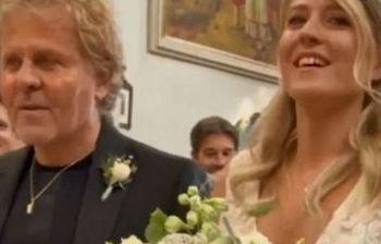 Matrimonio con scherzo per la figlia del patron della Diesel (video)