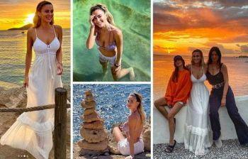 Diletta Leotta, vacanza a Ibiza con le amiche nella pausa campionato