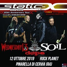 Static X con Wednesday 13 - Soil - Dope