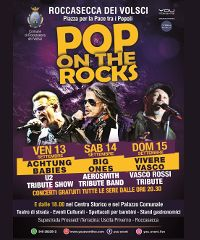 Pop On The Rocks: tre serate di concerti a Roccasecca dei Volsci