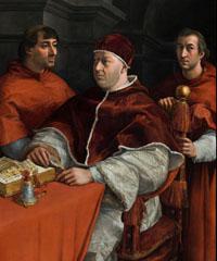 Leone X di Raffaello ritorna a Firenze