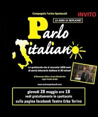 """""""Parlo italiano"""": vedi lo spettacolo sulla pagina FB del Teatro Erba"""