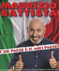 Maurizio Battista in scena con 'Che Paese e' il mio Paese'