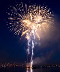 La magia dei fuochi d'artificio a Bibione