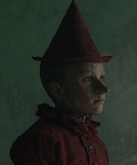Pinocchio nei costumi di Massimo Cantini Parrini