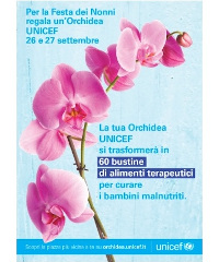 L'Orchidea UNICEF torna a Crotone e provincia