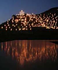 Presepe di luce a Manarola