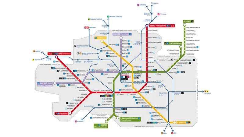Cartina Metropolitana Roma Pdf.La Mappa Della Metropolitana Di Milano