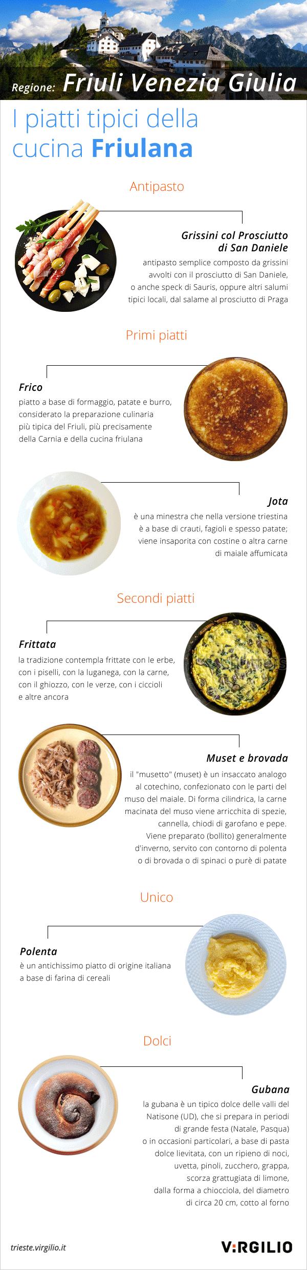 specialità della cucina friulana