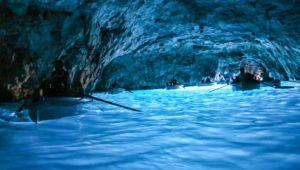 Grotta azzurra evidenzia