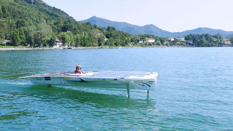 Ad Avigliana le barche si muovono con la forza del sole