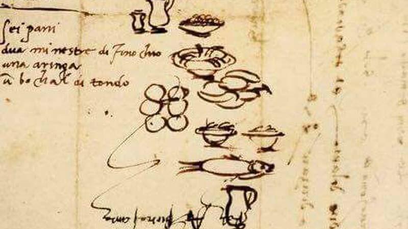 La lista della spesa di Michelangelo Buonarroti, del 1518