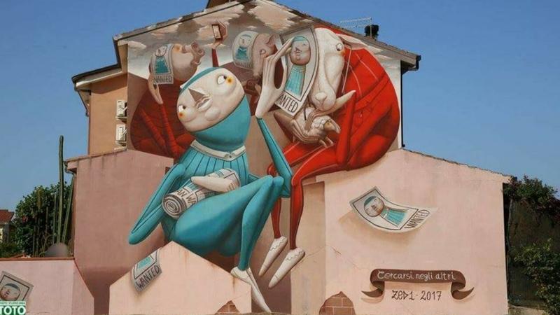 San Gavino Monreale, in Sardegna, è la patria della street art