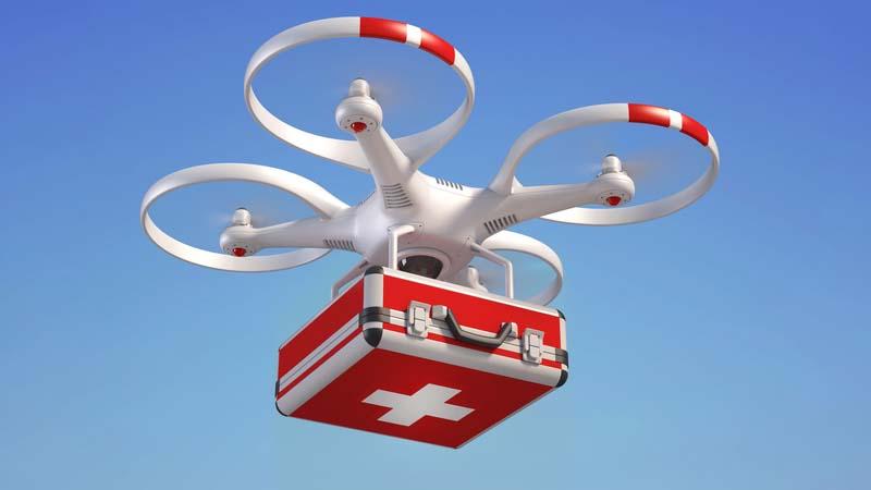 Drone salvavita, in Valdisusa il defibrillatore arriva dal cielo