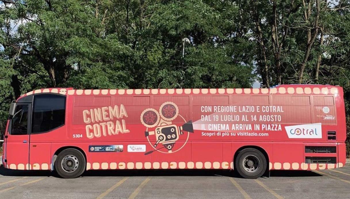 Nel Lazio il cinema mette le ruote e arriva sul bus