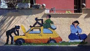 Da Goku a Lupin: a Grottaglie i cartoni diventano murales