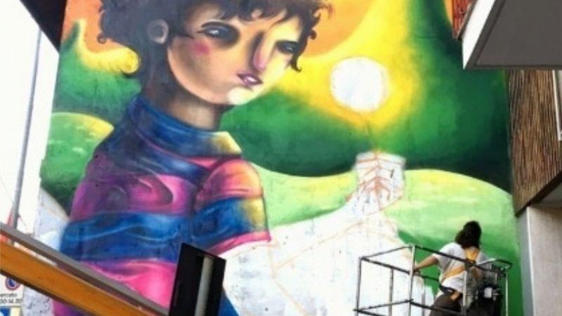 A Cornaredo un murale contro il climate change