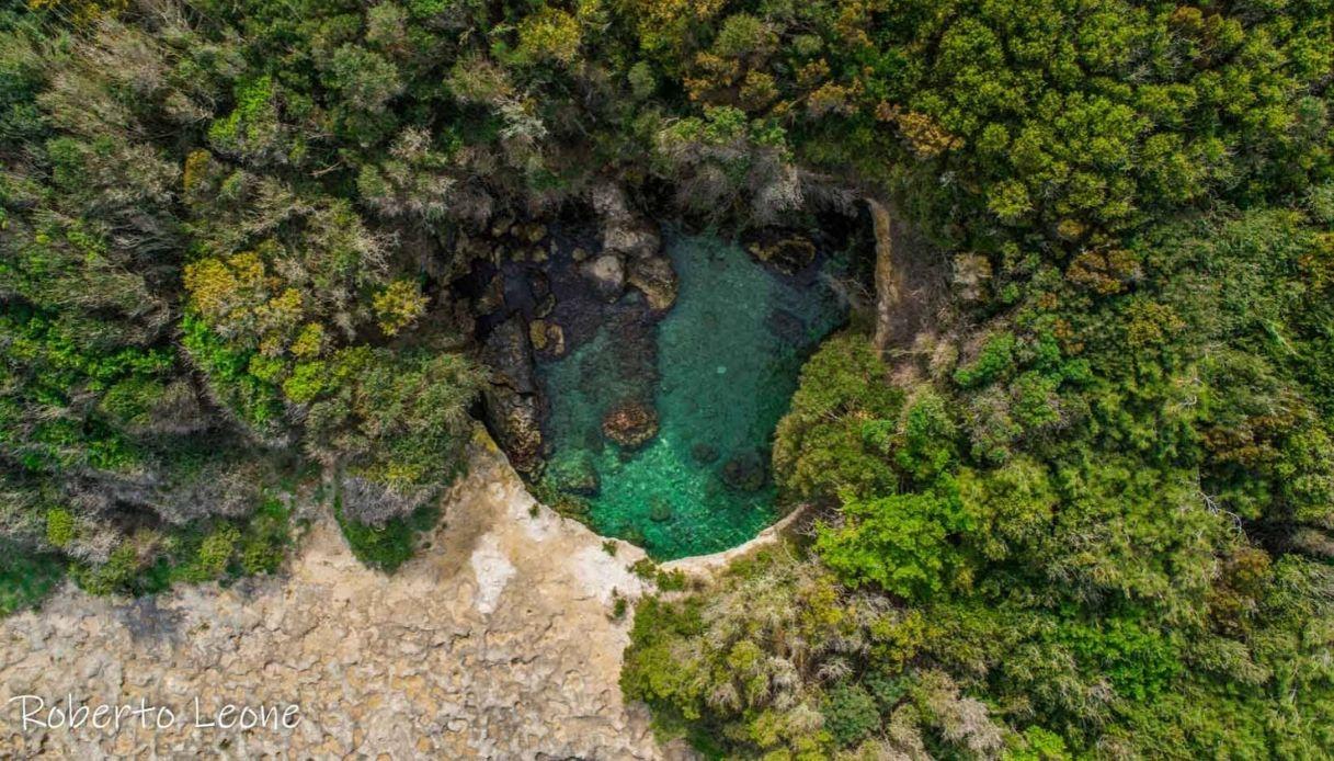 A Otranto c'è una piscina naturale: la scoperta del drone