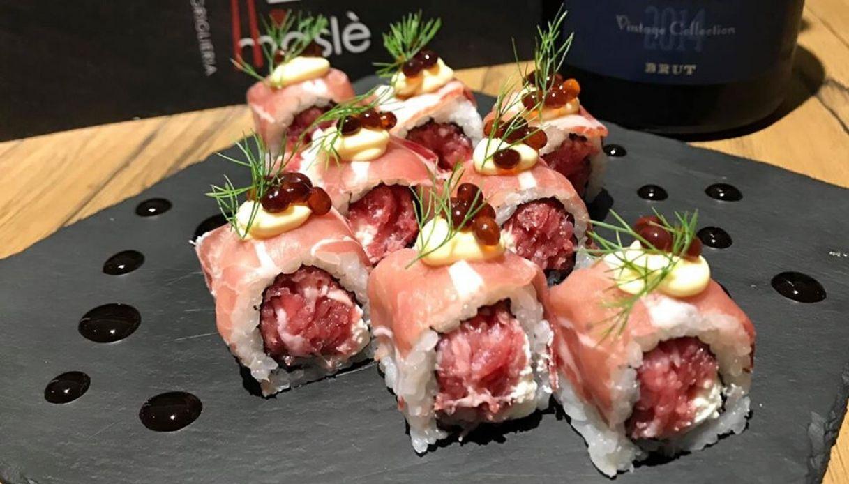 A Torino il sushi si fa con la carne cruda piemontese