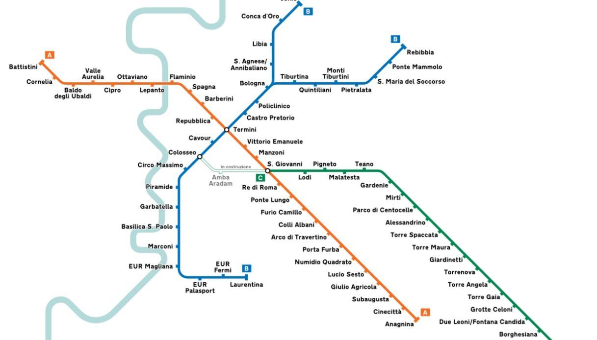 Cartina Stazioni Ferroviarie Roma.Mappa Metropolitana Di Roma