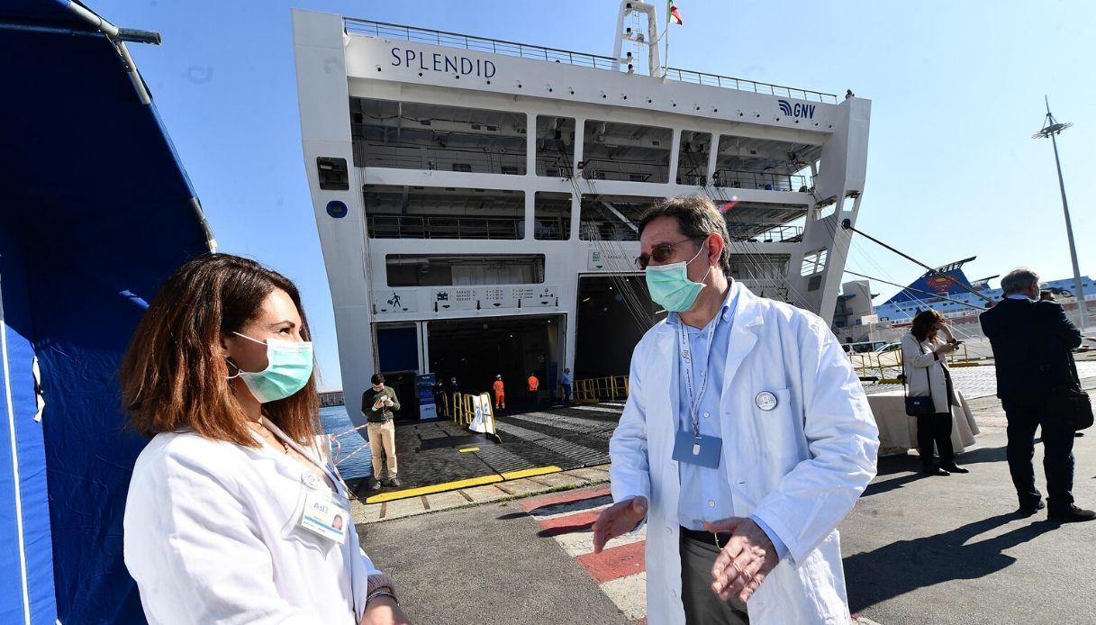 A Genova la prima nave al mondo per il Coronavirus