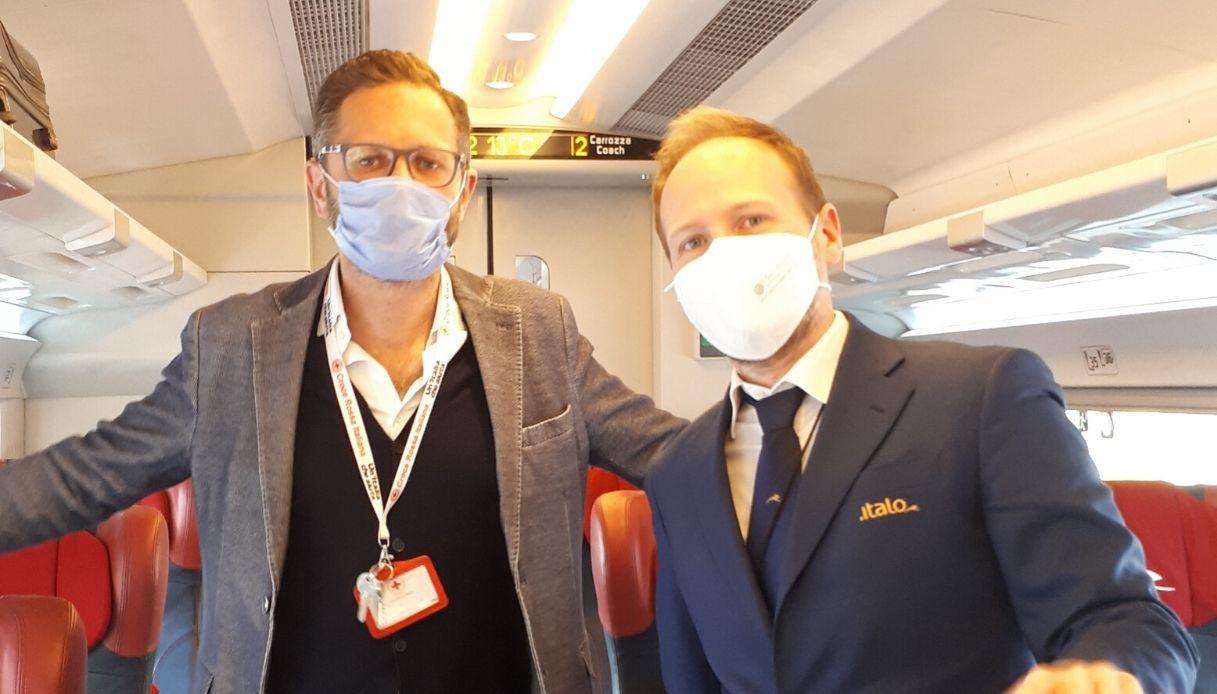 Coronavirus, treni Italo gratuiti per volontari della Croce Rossa