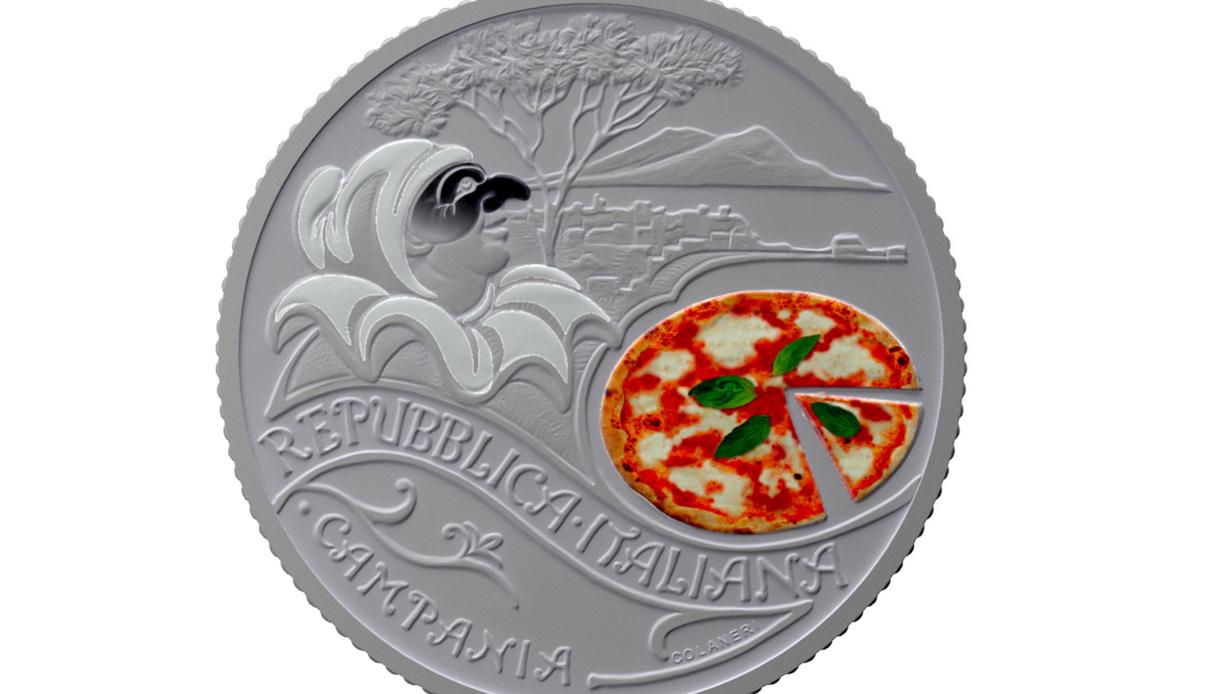 La Zecca dello Stato celebra la pizza con una moneta speciale