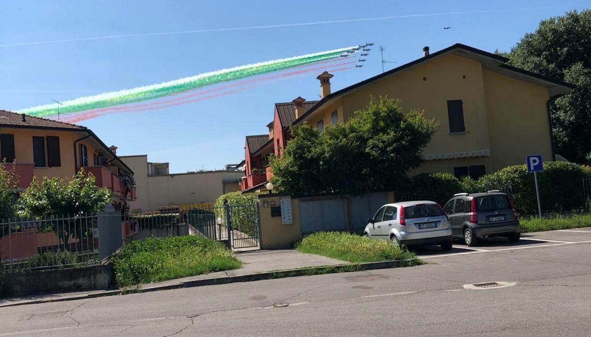 Giro d'Italia delle Frecce Tricolori: l'omaggio a Codogno