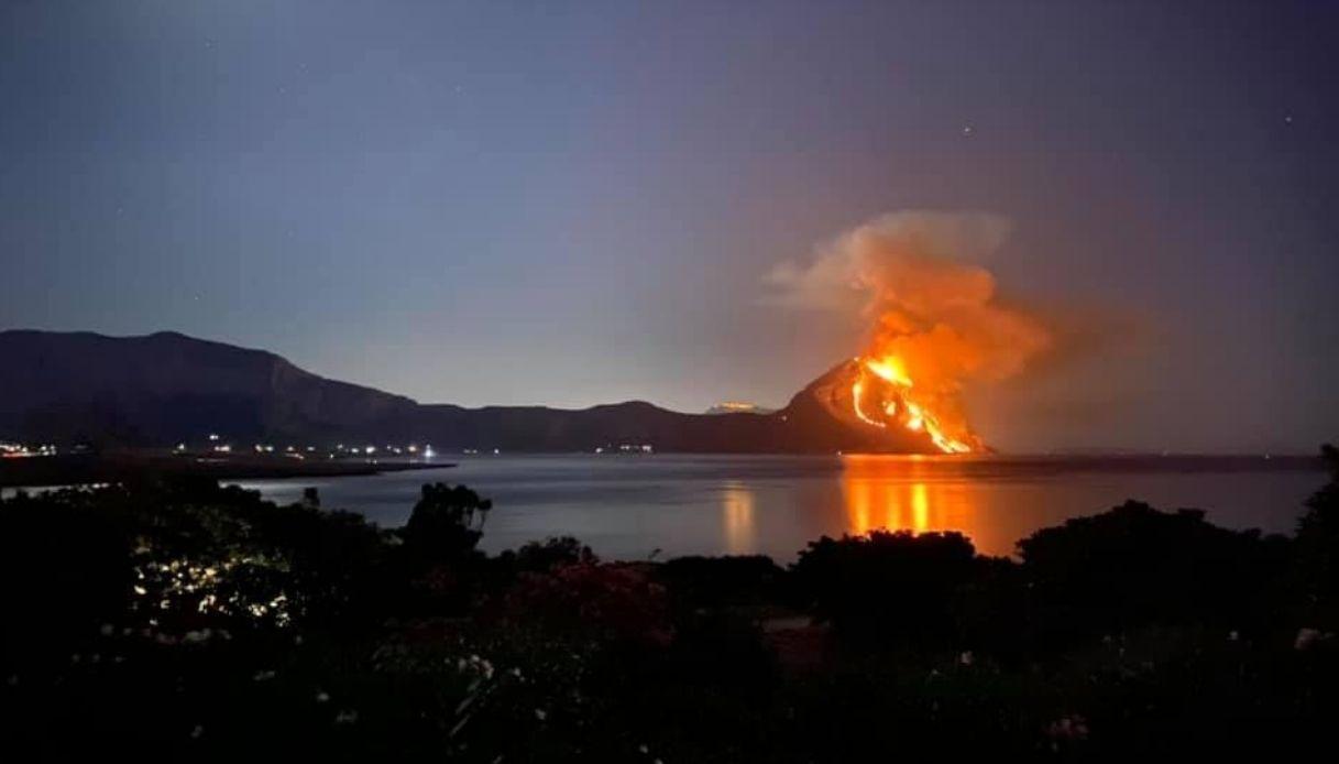 Monte Cofano, un vasto incendio ha devastato la riserva