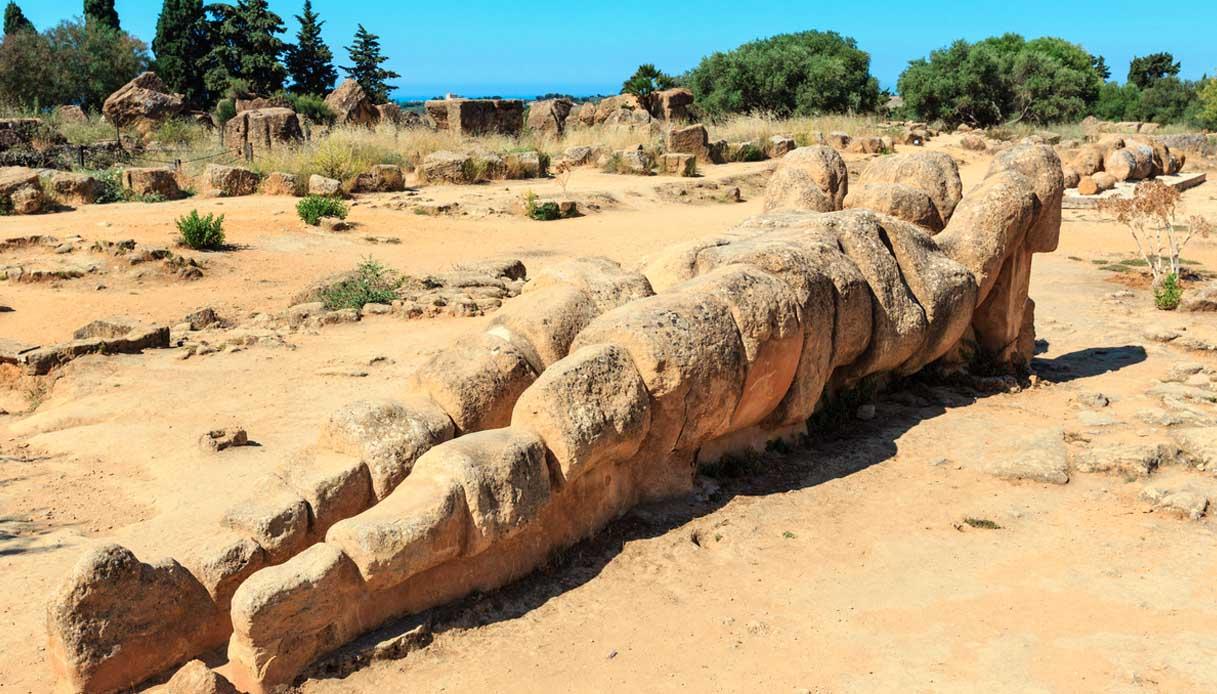 Valle dei Templi, il gigante Telamone si alza in piedi